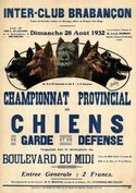 Poster Provincial championship 1932